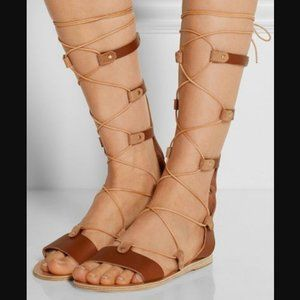 Ancient Greek Sandals Thebes Gladiator Lace-up